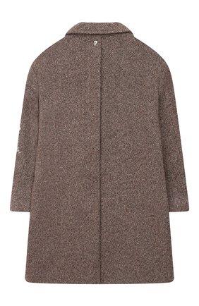 Детское шерстяное пальто DONDUP коричневого цвета, арт. YJ235/TY0028G/040 | Фото 2