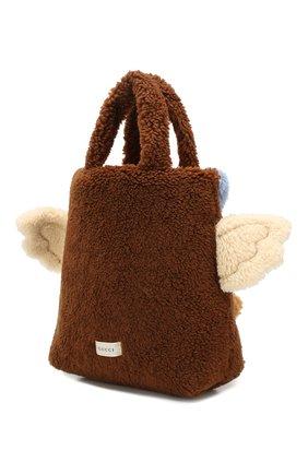 Детская сумка из шерсти GUCCI бежевого цвета, арт. 581007/GY3AN | Фото 2