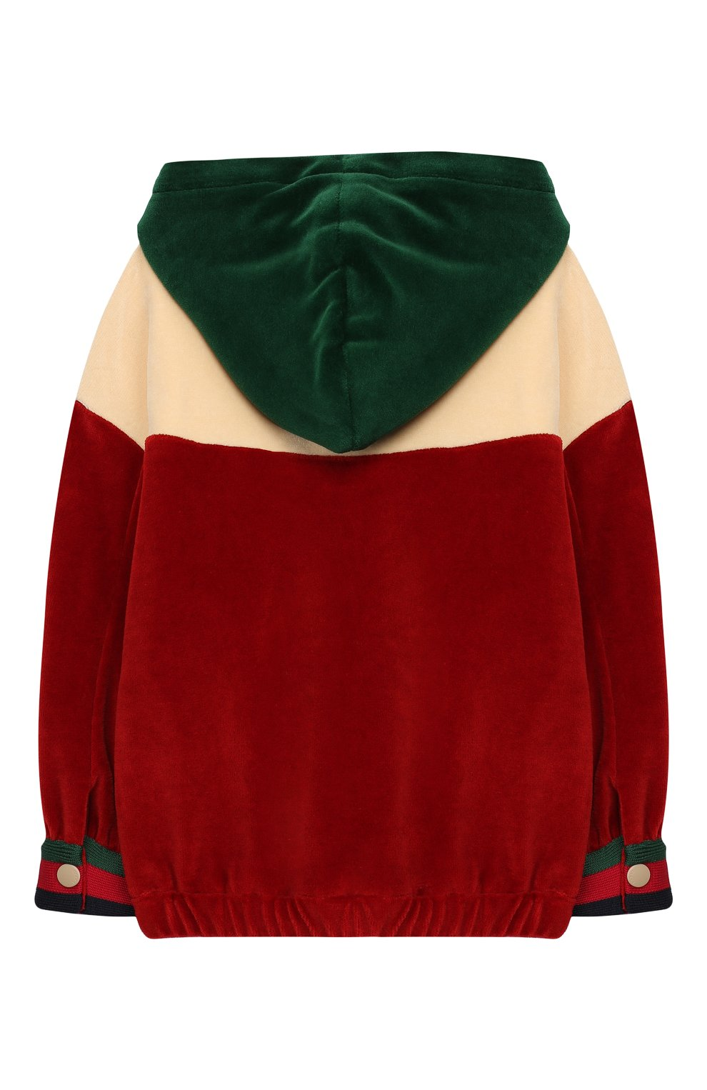 Детский хлопковая толстовка с капюшоном GUCCI бордового цвета, арт. 571743/XJBKZ | Фото 2