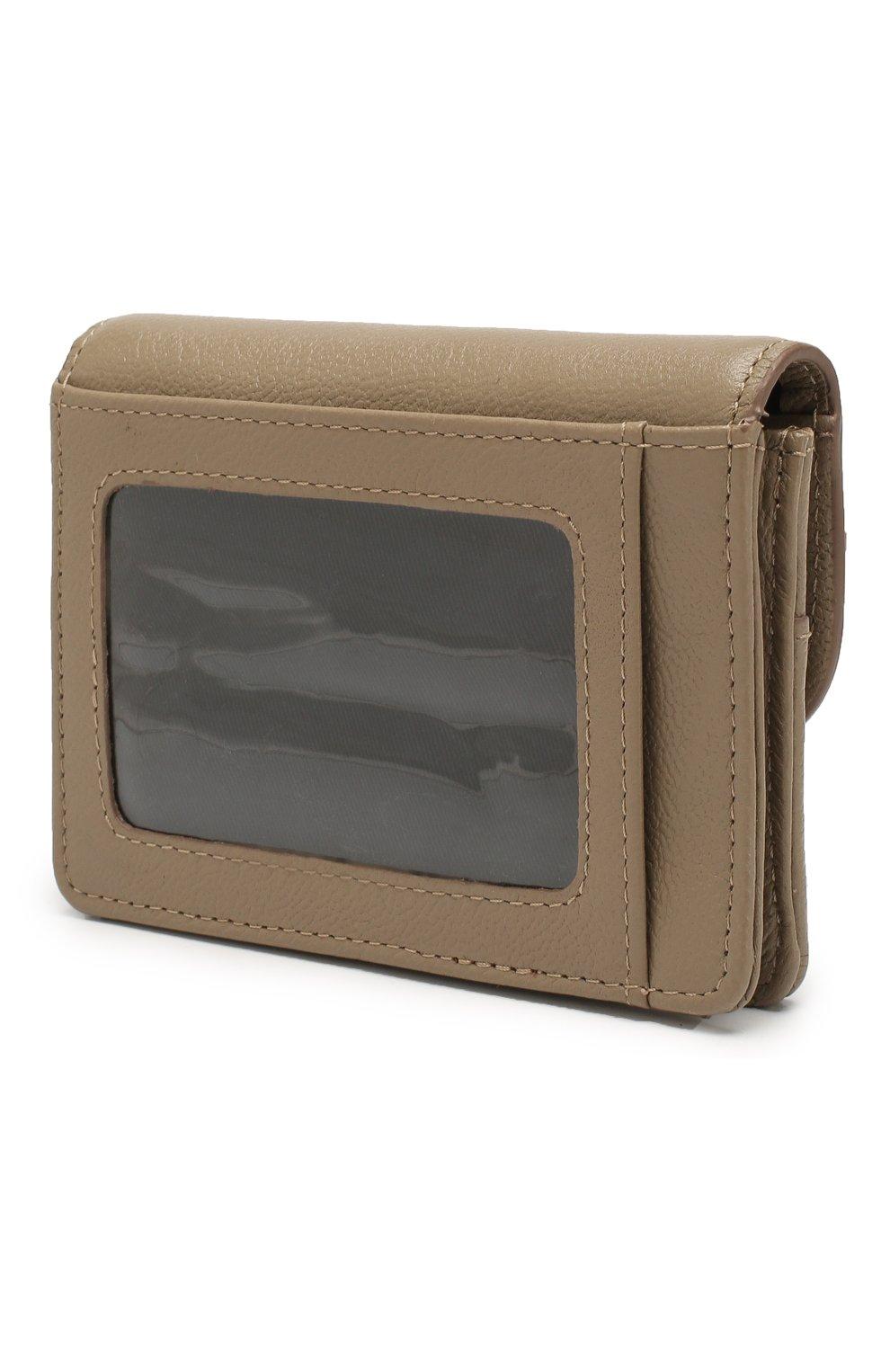 Женские кожаный кошелек SEE BY CHLOÉ серого цвета, арт. CHS18UP782388 | Фото 2