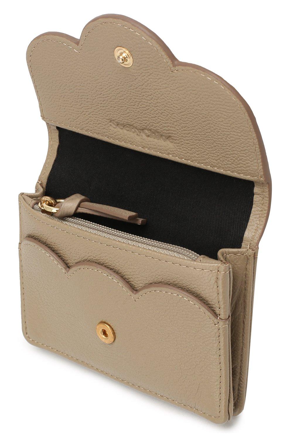 Женские кожаный кошелек SEE BY CHLOÉ серого цвета, арт. CHS18UP782388 | Фото 3