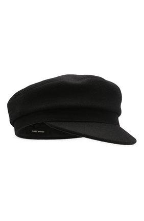 Женская шерстяное кепи ISABEL MARANT черного цвета, арт. CQ0001-00M005A/EVIE | Фото 1