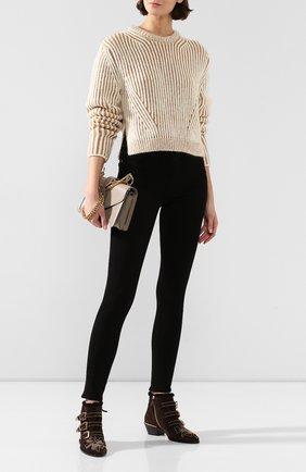 Женские замшевые ботинки susanna CHLOÉ темно-коричневого цвета, арт. CHC18W13438 | Фото 2