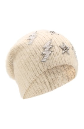 Женский шерстяная шапка JENNIFER BEHR белого цвета, арт. 46XA31 | Фото 1
