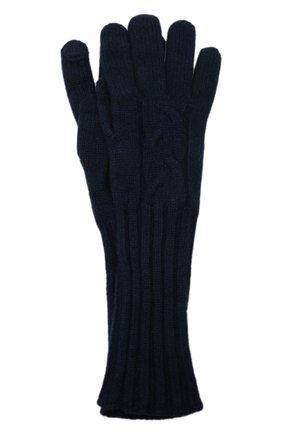 Женские кашемировые перчатки courchevel LORO PIANA темно-синего цвета, арт. FAI8570 | Фото 1