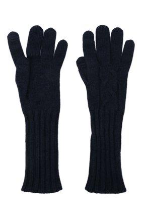 Женские кашемировые перчатки courchevel LORO PIANA темно-синего цвета, арт. FAI8570 | Фото 2