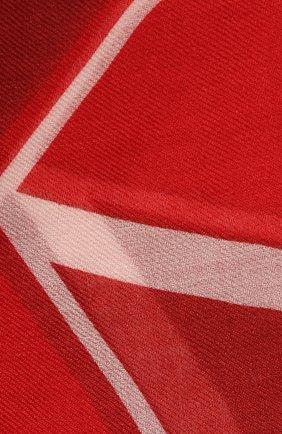 Женский платок из смеси кашемира и шелка VALENTINO красного цвета, арт. SW0EB104/FZS   Фото 2