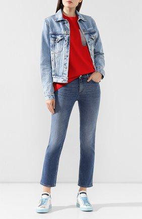 Женские кожаные кеды portofino DOLCE & GABBANA белого цвета, арт. CK1545/AK126 | Фото 2