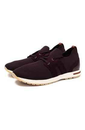 Женские текстильные кроссовки 360 lp walk LORO PIANA фиолетового цвета, арт. FAI8579 | Фото 1
