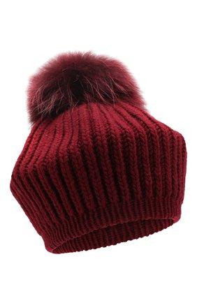 Женский кашемировая шапка INVERNI бордового цвета, арт. 0250CM | Фото 1
