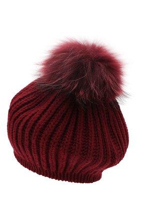 Женский кашемировая шапка INVERNI бордового цвета, арт. 0250CM | Фото 2