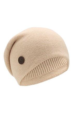 Женский кашемировая шапка INVERNI светло-бежевого цвета, арт. 3792CMC1 | Фото 1