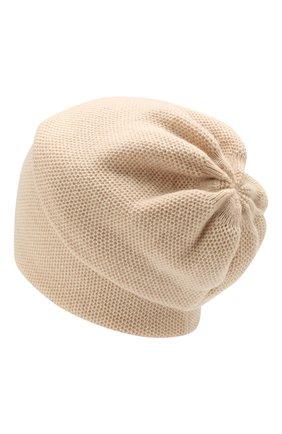 Женский кашемировая шапка INVERNI светло-бежевого цвета, арт. 3792CMC1 | Фото 2