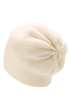Женский кашемировая шапка INVERNI белого цвета, арт. 3792CMC1 | Фото 2