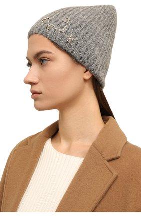 Женский шапка JENNIFER BEHR светло-серого цвета, арт. 46XA49 | Фото 2