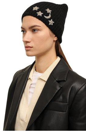 Женский шапка JENNIFER BEHR черного цвета, арт. 46XA49 | Фото 2