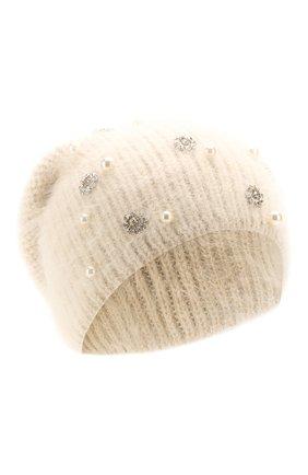 Женский шерстяная шапка JENNIFER BEHR белого цвета, арт. 46XB84 | Фото 1