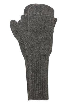 Мужские кашемировые варежки TEGIN темно-серого цвета, арт. 5235   Фото 1