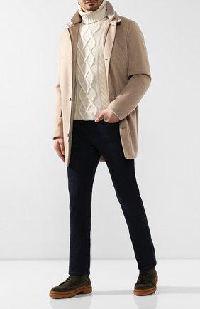 Мужской кашемировое пальто LORO PIANA бежевого цвета, арт. FAI8605   Фото 2