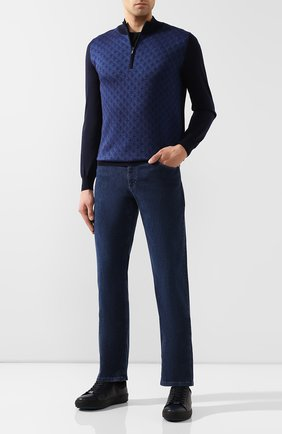 Мужские джинсы ZILLI темно-синего цвета, арт. MCS-00270-HIPE1/R001 | Фото 2