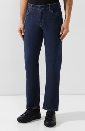 Мужские джинсы ZILLI темно-синего цвета, арт. MCS-00270-HIPE1/R001 | Фото 3