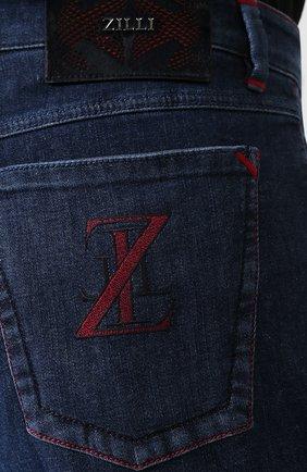 Мужские джинсы ZILLI темно-синего цвета, арт. MCS-00270-HIPE1/R001 | Фото 5