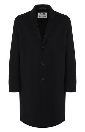 Мужской шерстяное пальто ACNE STUDIOS черного цвета, арт. B90195 | Фото 1