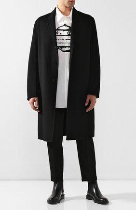 Мужской шерстяное пальто ACNE STUDIOS черного цвета, арт. B90195 | Фото 2