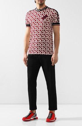Мужские текстильные кроссовки sorrento DOLCE & GABBANA красного цвета, арт. CS1713/AH677 | Фото 2