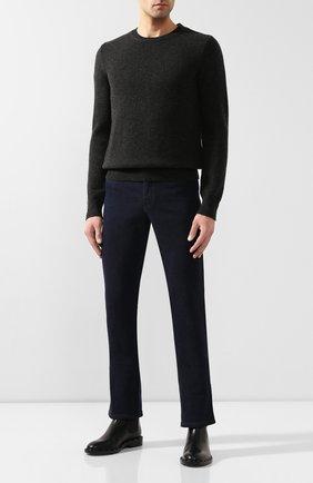 Мужской кашемировый свитер ZILLI темно-серого цвета, арт. MBS-RN520-LYCA1/ML01 | Фото 2