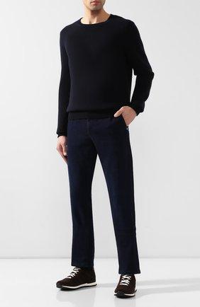 Мужской кашемировый свитер ZILLI темно-синего цвета, арт. MBS-RN520-LYCA1/ML01   Фото 2