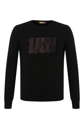 Мужской кашемировый свитер ZILLI черного цвета, арт. MBS-RN510-GUCA1/ML01 | Фото 1