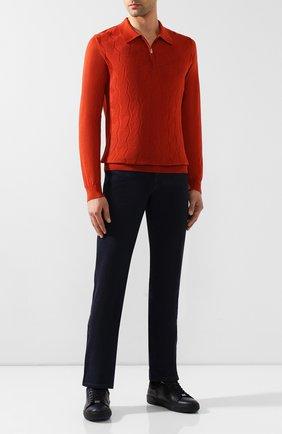 Мужское поло из смеси кашемира и шелка ZILLI оранжевого цвета, арт. MBS-PZ322-LICL1/ML01 | Фото 2