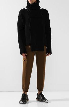 Мужской шерстяной свитер BOTTEGA VENETA черного цвета, арт. 592750/VKGY0 | Фото 2