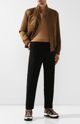 Мужской шерстяные брюки BOTTEGA VENETA черного цвета, арт. 592630/VKCX0 | Фото 2