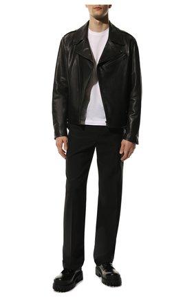 Мужские кожаные ботинки BALENCIAGA черного цвета, арт. 589338/WA960 | Фото 2