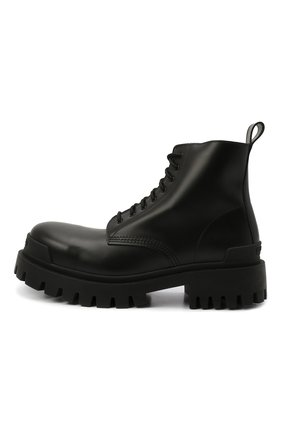 Мужские кожаные ботинки BALENCIAGA черного цвета, арт. 589338/WA960   Фото 4 (Мужское Кросс-КТ: Ботинки-обувь, Байкеры-обувь; Материал внутренний: Натуральная кожа; Статус проверки: Проверено; Подошва: Массивная)