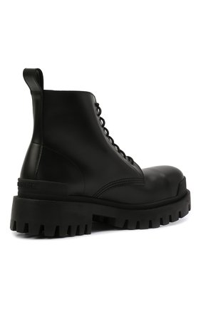 Мужские кожаные ботинки BALENCIAGA черного цвета, арт. 589338/WA960   Фото 5 (Мужское Кросс-КТ: Ботинки-обувь, Байкеры-обувь; Материал внутренний: Натуральная кожа; Статус проверки: Проверено; Подошва: Массивная)