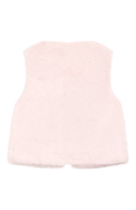 Детский жилет TARTINE ET CHOCOLAT светло-розового цвета, арт. TP16001/1M-1A | Фото 2 (Рукава: Короткие; Статус проверки: Проверено; Материал внешний: Полиэстер, Синтетический материал; Материал подклада: Синтетический материал)