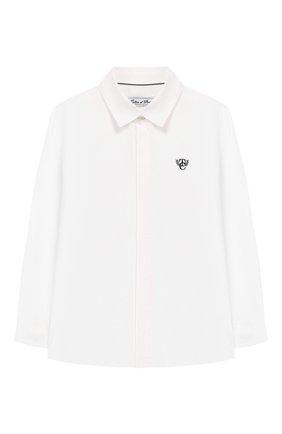 Детская хлопковая рубашка TARTINE ET CHOCOLAT белого цвета, арт. TP12023/4A-5A | Фото 1