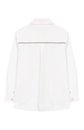 Детская хлопковая рубашка TARTINE ET CHOCOLAT белого цвета, арт. TP12023/4A-5A | Фото 2