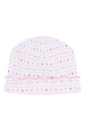Детского хлопковая шапка KISSY KISSY розового цвета, арт. KG502236N | Фото 1