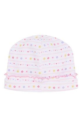Детского хлопковая шапка KISSY KISSY розового цвета, арт. KG502236N | Фото 2