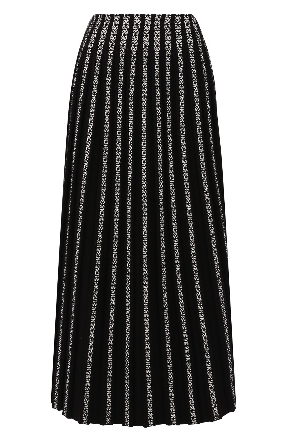 Женская юбка ALAIA черно-белого цвета, арт. 9W9JE38LM490 | Фото 1