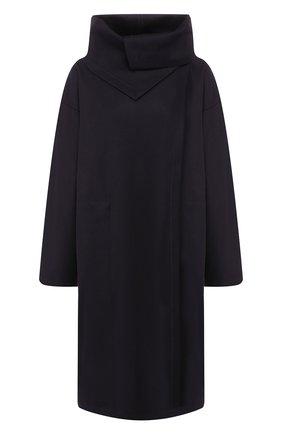 Женское шерстяное пальто DRIES VAN NOTEN темно-синего цвета, арт. 192-10243-8211 | Фото 1