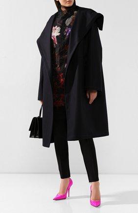 Женское шерстяное пальто DRIES VAN NOTEN темно-синего цвета, арт. 192-10243-8211 | Фото 2