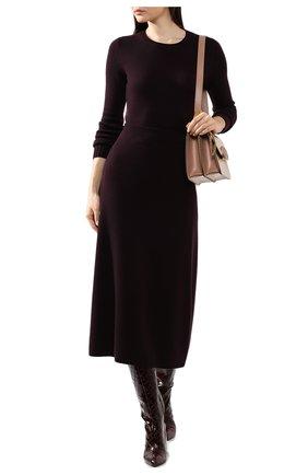Женская кашемировая юбка LORO PIANA фиолетового цвета, арт. FAI8078   Фото 2