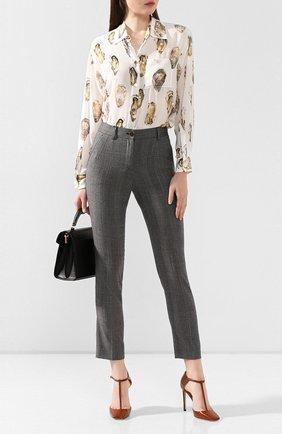 Женские шерстяные брюки DOLCE & GABBANA светло-серого цвета, арт. FTAMUT/FQBBK | Фото 2