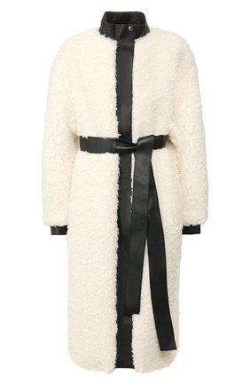 Женское пальто с поясом ACNE STUDIOS белого цвета, арт. A90157 | Фото 1