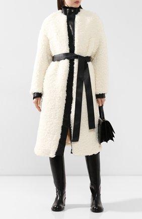 Женское пальто с поясом ACNE STUDIOS белого цвета, арт. A90157 | Фото 2